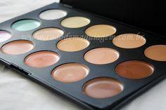 Paleta Grande de Corretivos 15 cores Jasmyne - Tudo de Maquiagem
