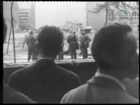 13. August 1961 -- Bau der Berliner Mauer - YouTube
