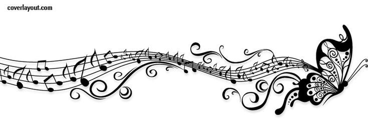 Butterfly Music Notes CoverLayout.com