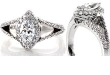 Our collection of split shank engagement rings feature unique designs that draw attention towards the center stone. Each ring is custom made around your center stone and finger size. Our split shank rings can be made in platinum or any color of gold.