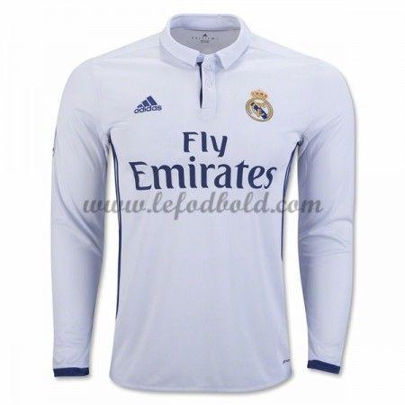 Billige Fodboldtrøjer Real Madrid 2016-17 Langærmet Hjemmebanetrøje