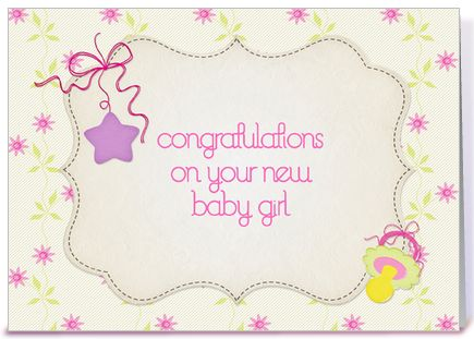 The 56 best CONGRATULATIONS - BABY GIRL images on Pinterest