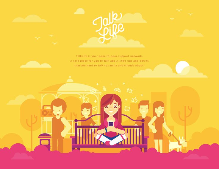 Talk Life on Behance