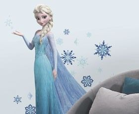 Disney Frozen Ice Palace ft. Elsa & Anna Giant Wall Decals | RoomMates Peel and Stick Décor