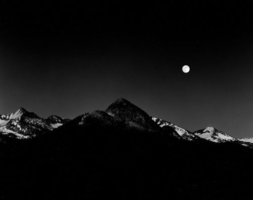 """Moonrise from Glacier Point"" / Photograph by Ansel Adams"