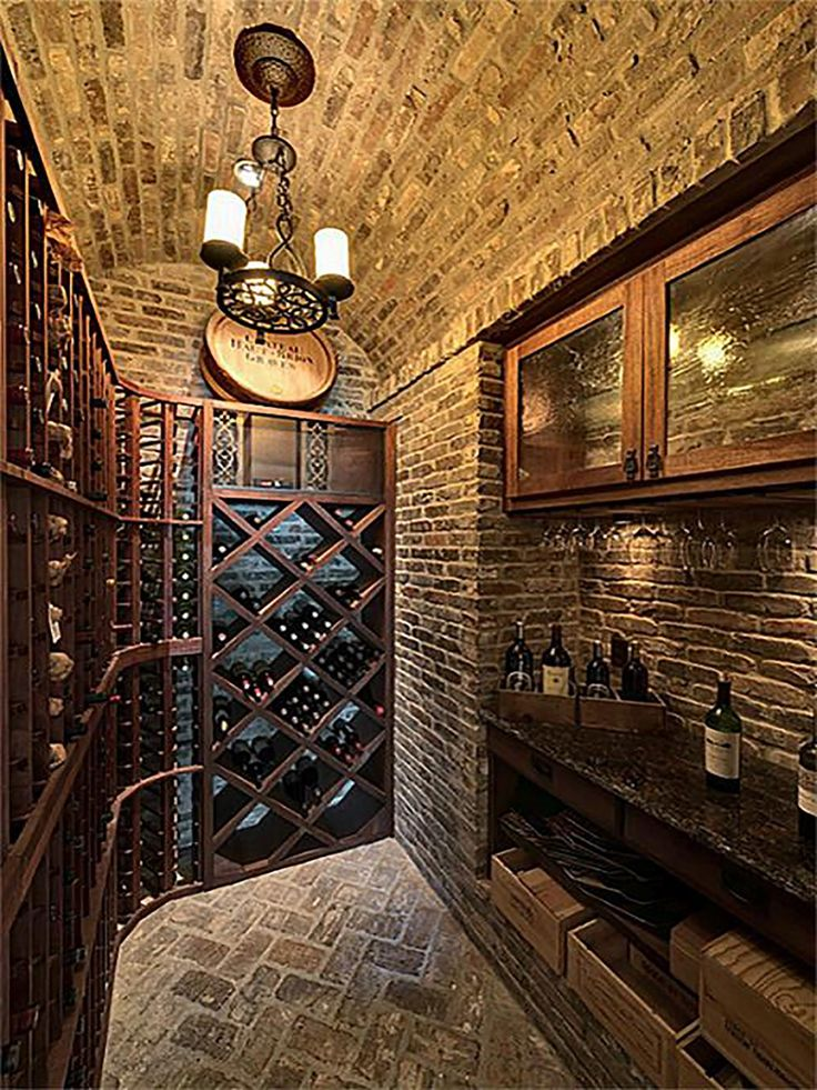 Great wine cellar design.