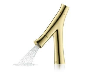 Thermostatic bathtub mixer AXOR STARCK ORGANIC   Gold leaf bathtub mixer - HANSGROHE