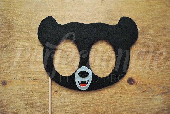Felt Black Bear Mask Prop | Woodland Creatures Mask | Little Bear Mask | Brave | Woodland Animal Mask