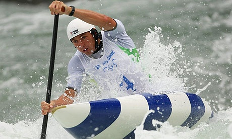 David Florence on his way to a silver medal - Beijing Olympics 2008