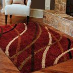 Buy Orian Shag Swirls Rug, Multi at Walmart.com