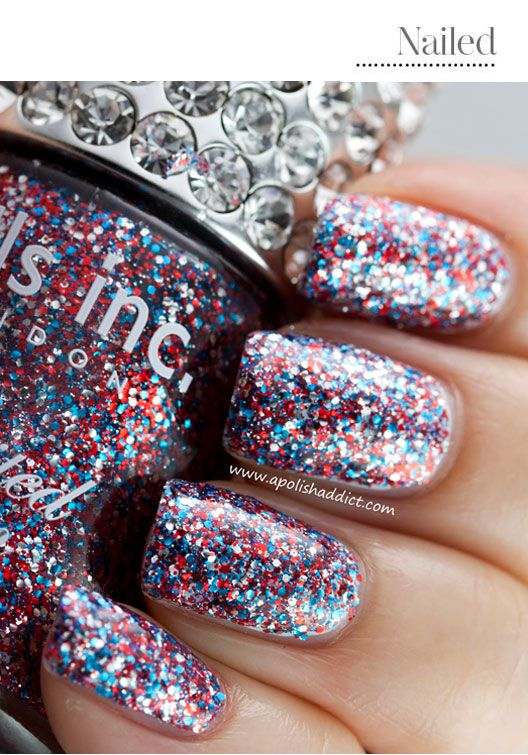 Love this bright and colorful nail polish -(Patriotic Fingers: 4th of July