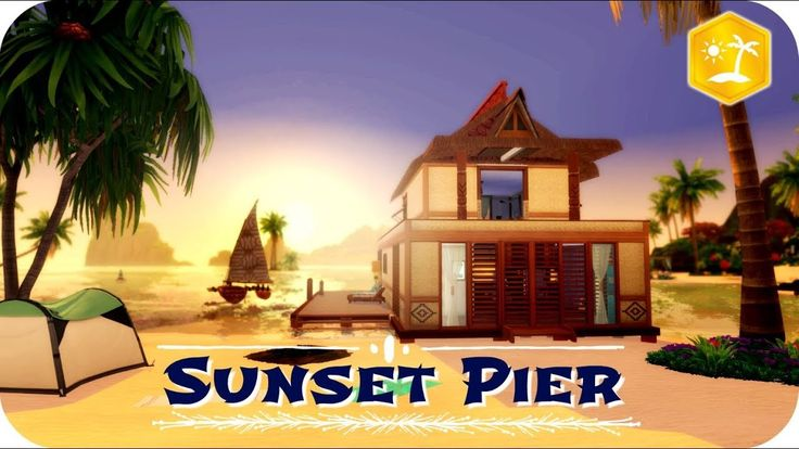 Sunset Pier The Sims 4 Island Living Speed Build Sims