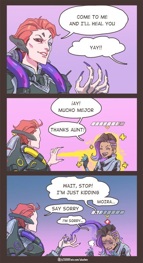 Overwatch Moira & Sombra Comic now I see Moira as an aunt