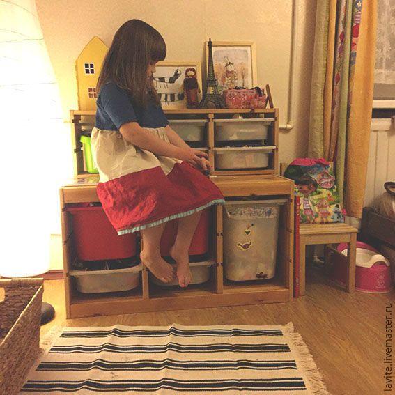 Купить детское/Бастилия :) - комбинированный, в полоску, детское платье, платье, платье летнее, Платье нарядное