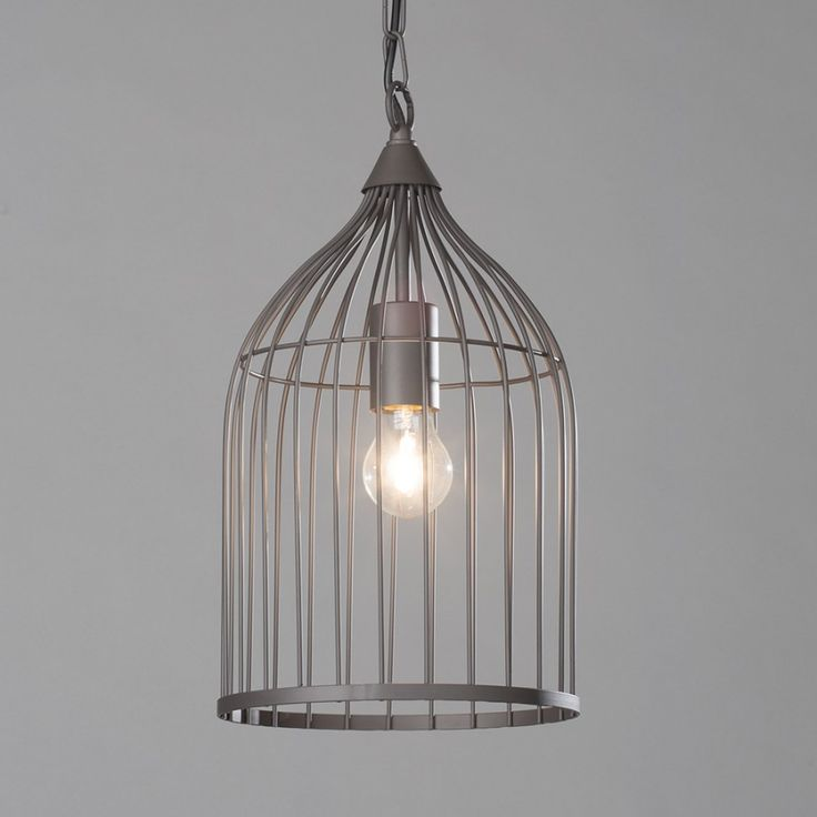 bird cage inspired lighting dark grey brown finish
