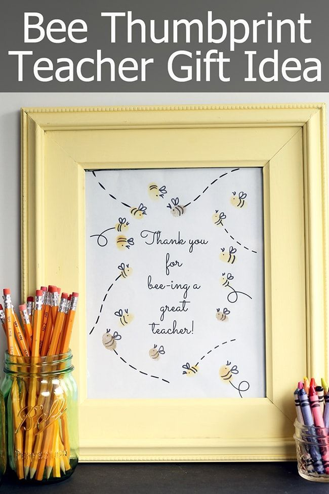 Thumbprint Teacher Appreciation Gift