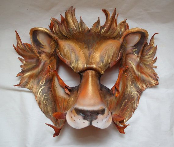 Lannister Lion Game of Thrones Inspired Leather Mask by PlatyMorph, $200.00