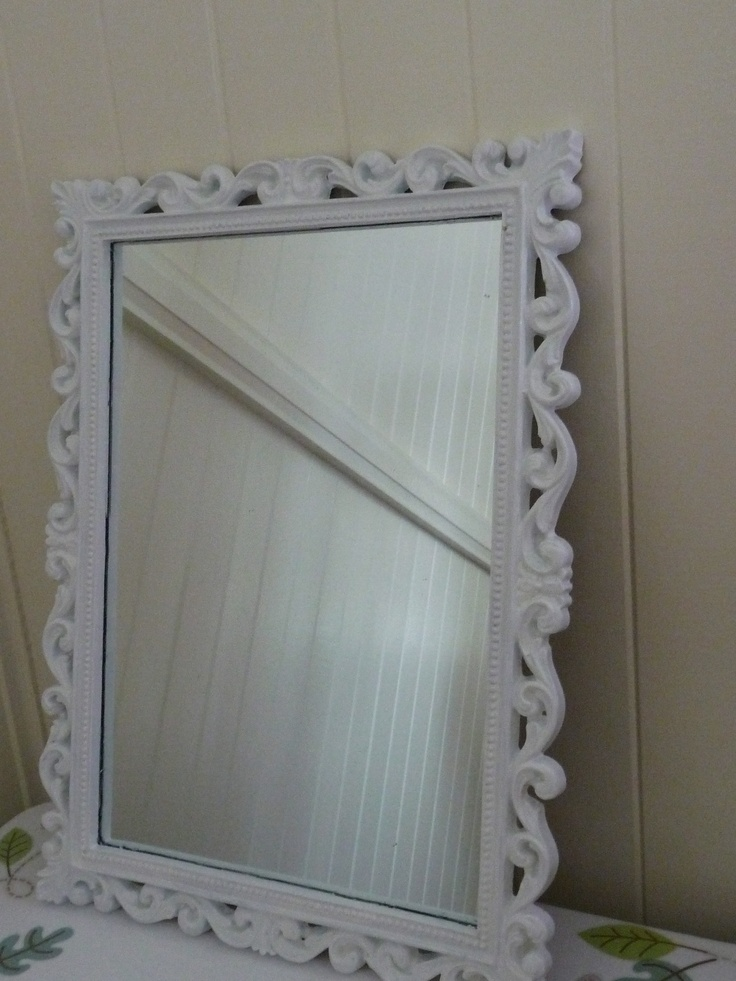 Old frame i brought at a market for so painted it white.