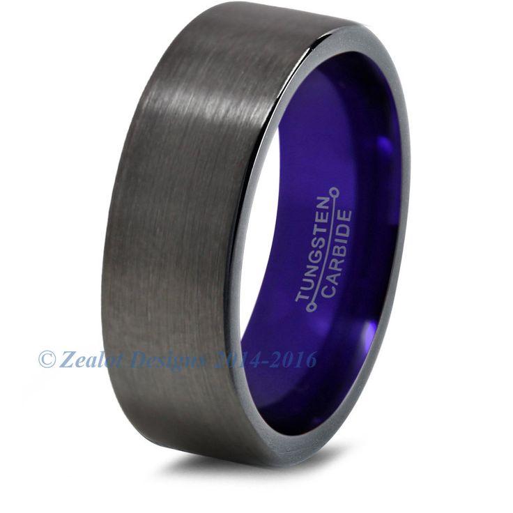 Purple Chromacolor Black Tungsten Ring