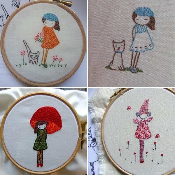 Look at the fab embroidery on the bottom left.  Patience and a steady hand.