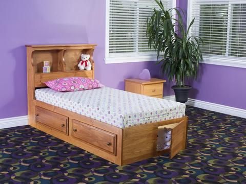 Artemis Twin Mates Bed With Bookcase Headboard