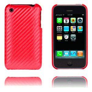 Carbon (Rød) iPhone Deksel for 3G/3GS