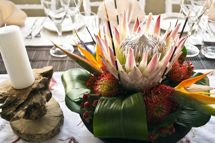 Wedding decor Durban : African wedding centrepiece  www.lemontreeconcepts.co.za