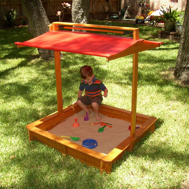 Alternate sandbox - the cover lowers to keep out pests and debris