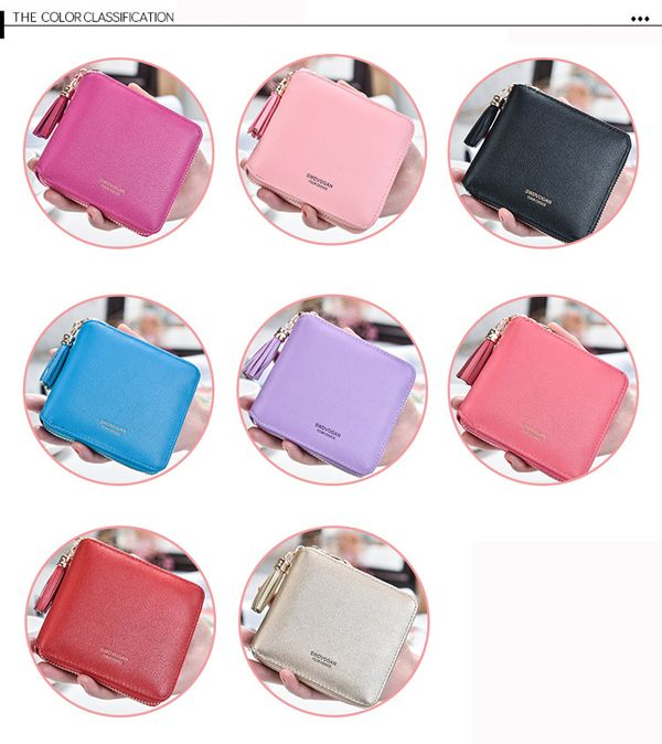 6 Card Slots Women Pu Leather Wallet Coins Bag Credit Card Holders