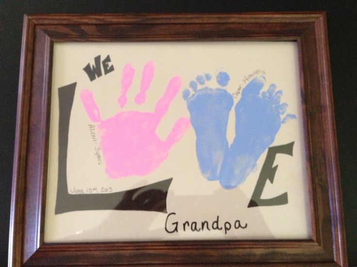 Father's Day gift for Grandpa: Father'S Day Gifts, Grandparent Gift, Birthday Gift, Gift Ideas, Art, Fathers, Crafts, Kid