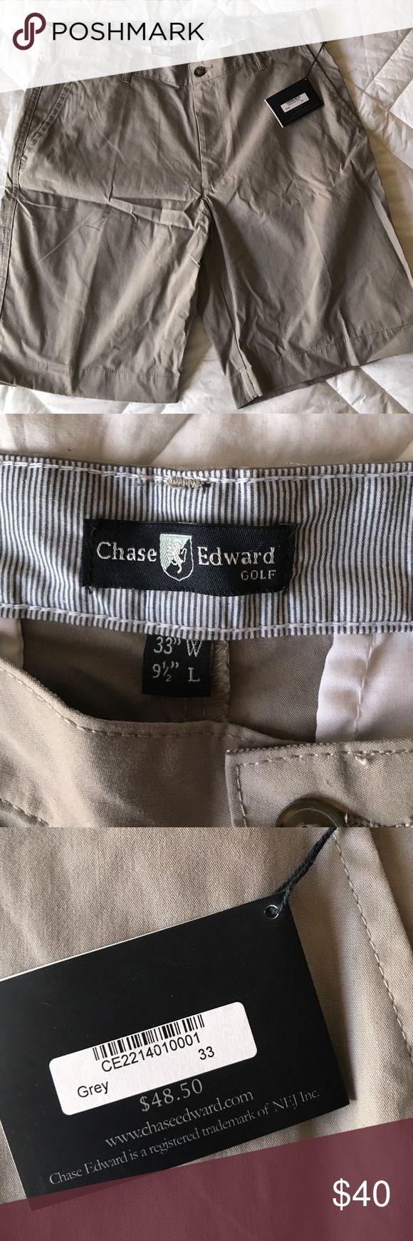 Chase Edward gray chino shorts Men's chino shorts, new with tags. Shorts