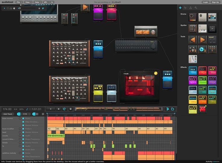 Audiotool screenshot
