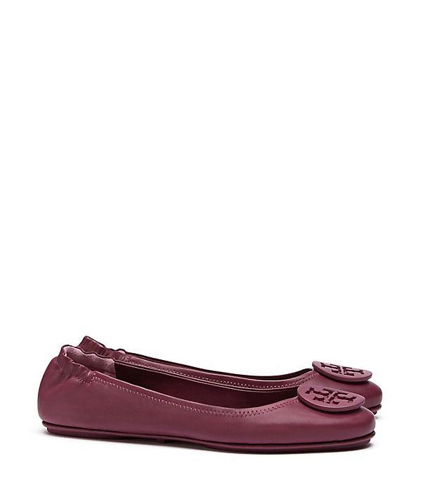 Tory Burch Logo Minnie Travel Ballet Flat, Leather