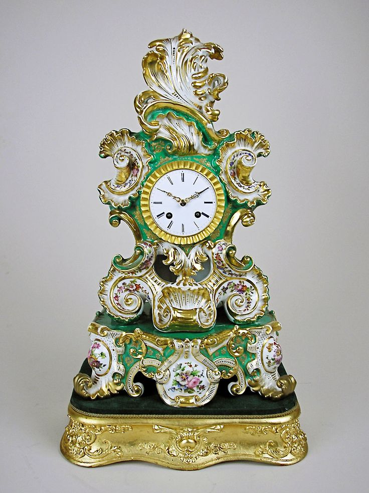 antique porcelain clocks | Antique porcelain clock by Jacob Petit for sale, Perth, WA