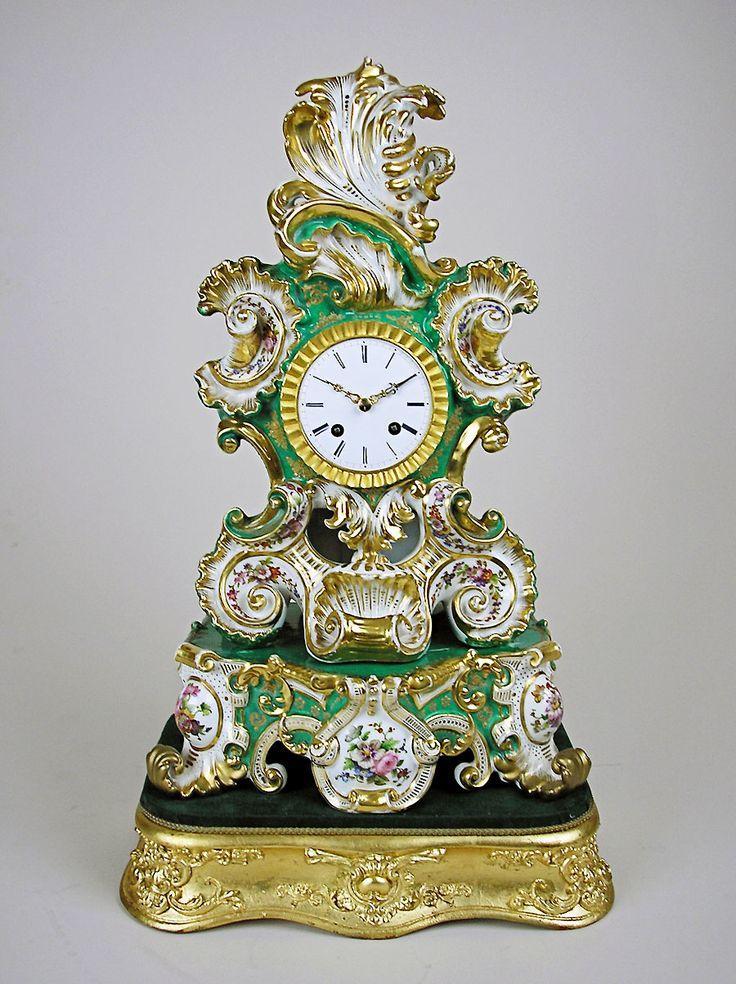 antique porcelain clocks | Antique porcelain clock by Jacob Petit for sale, Perth, WA