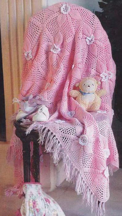 Розовое покрывало для малыша. Просто чудесное покрывало