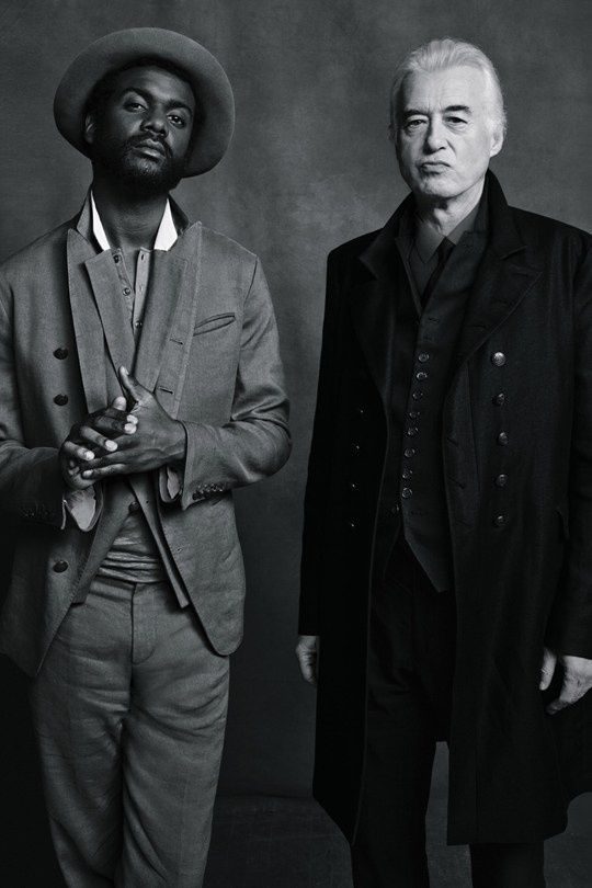 Jimmy Page and Gary Clark Jr. (guitarist, the future of Blues of Texas), photo by Danny Clinch