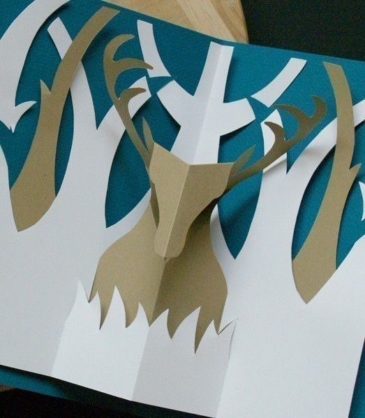 Kirigami Buck Popup Card Make Yourself by popupcardmaking on Etsy, $3.95