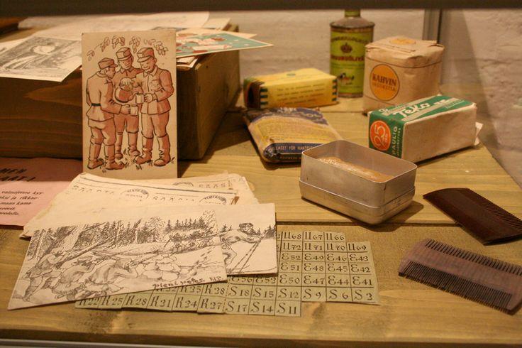 Joensuun bunkkerimuseolla on varsin kattava kokoelma sodankäynnissä hyväksi havaittua esineistöä.