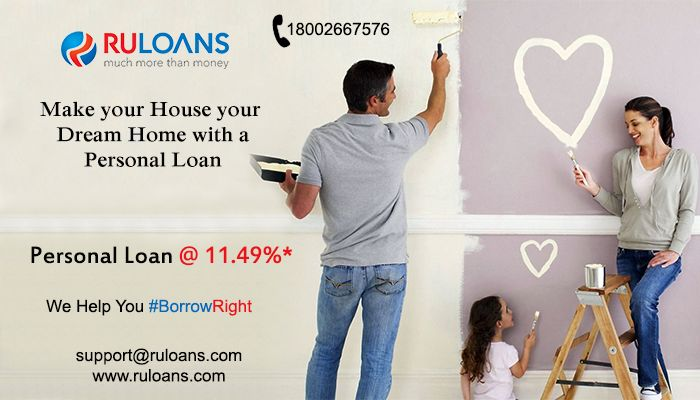 Give your home a new look! Get a #PersonalLoan now @ 11.49%* For more details visit - http://buff.ly/28VFBaP #Ruloans #BorrowRight