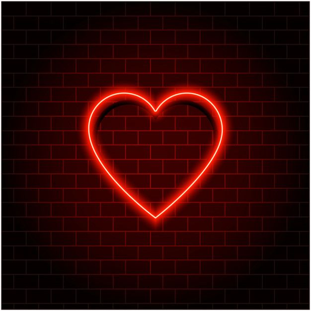 Neon Heart Retro Valentine S Day Red Neon Sign Effect Neon Signs Wallpaper Iphone Neon Neon Light Wallpaper