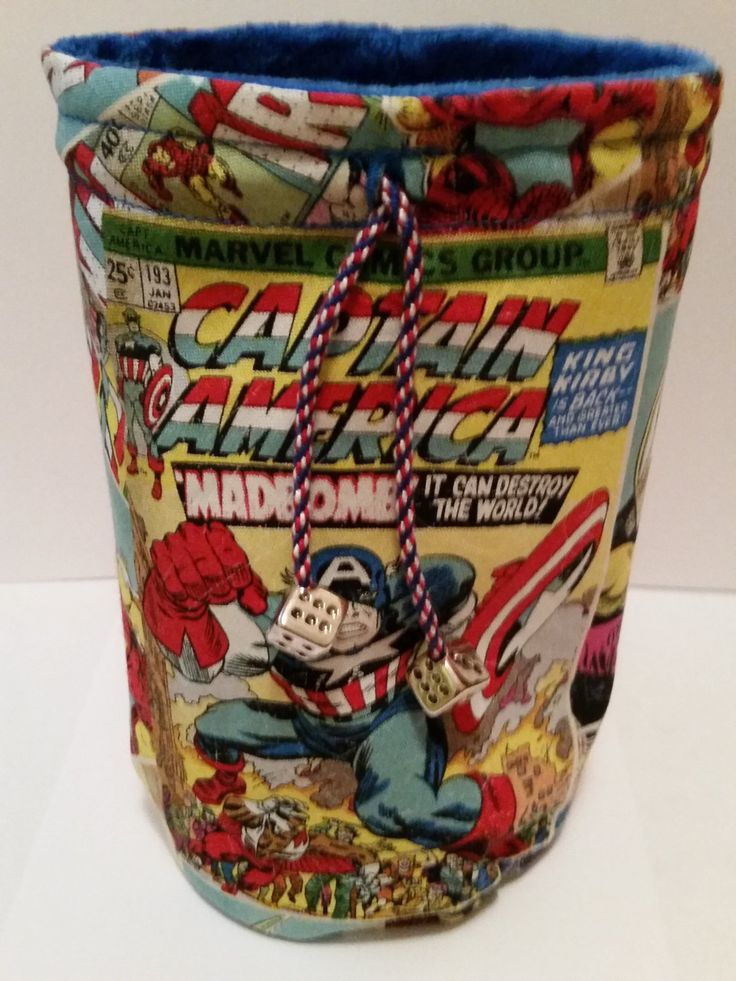 Marvel Dice Bag of Captain America by TheNerdyNinja, $20.00 Keep your #dice from spilling everywhere!
