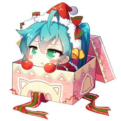 Bai Yemeng,Anime Art,Аниме арт, Аниме-арт,Anime,Аниме,Hatsune Miku,Miku Hatsune, Хацуне Мику, Хацунэ Мику, Hatsune Miku Append,Vocaloid,Вокалоид, Вокалойд,Anime Christmas