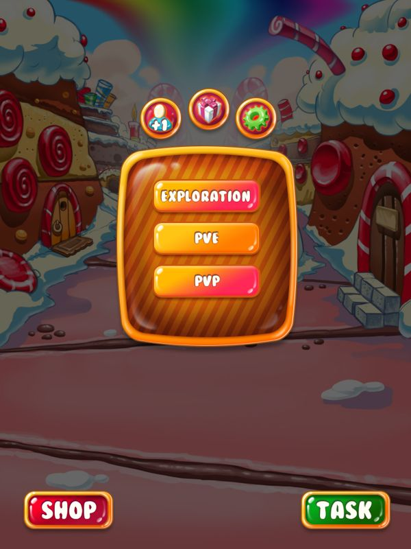 Development of game interface on Behance