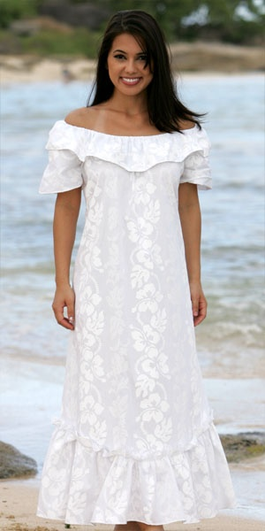 8 best images about hawaiian wedding on pinterest for Hawaiian wedding dresses with sleeves