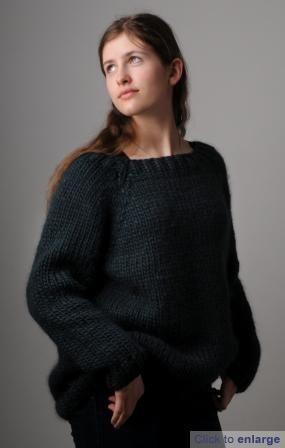 soft chunky sloppy joe jumper pattern