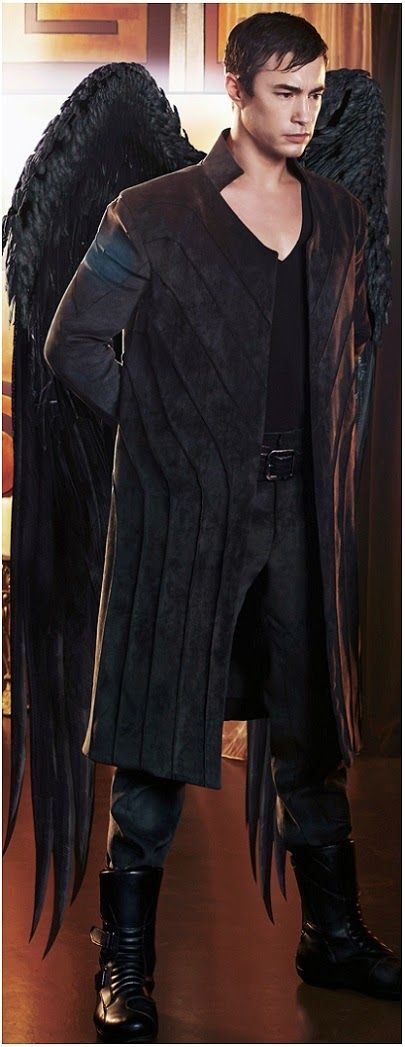 Tom Wisdom - Michael from the show 'Dominion'; I love how the details on his long coat resembles his wings.