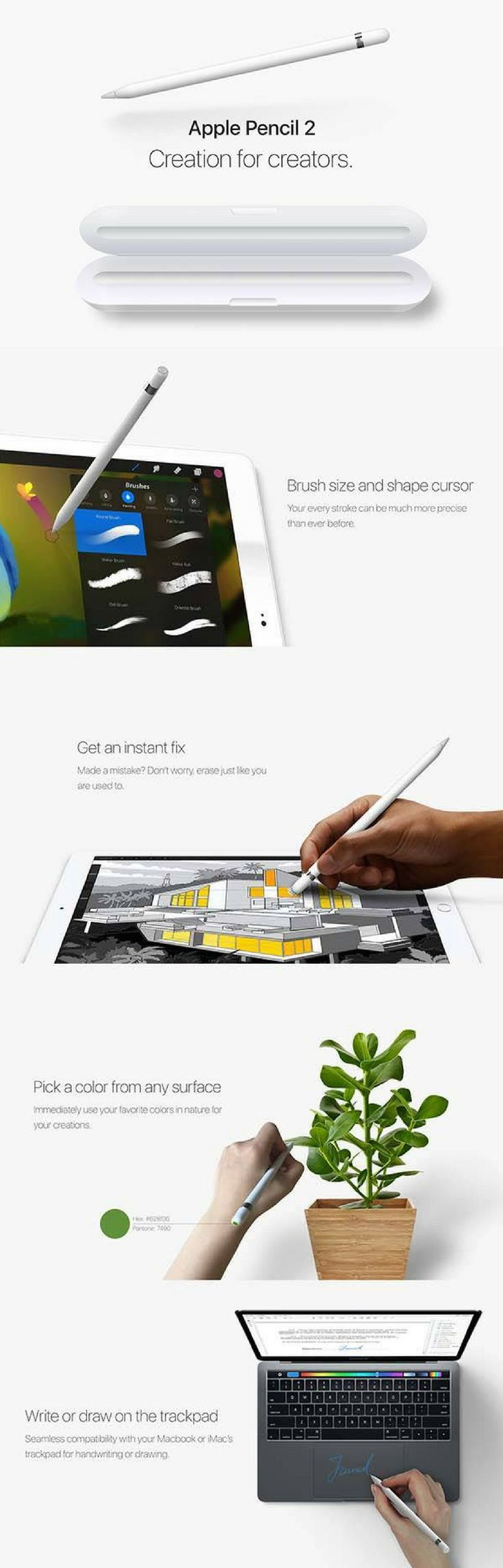 Game maker color picker - The Concept Apple Pencil 2 Boasts Integrated Color Picker Custom Charging Case And More