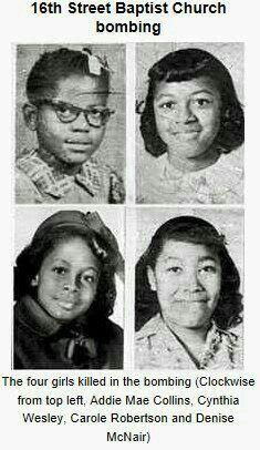 4 little Black girls killed in Birmingham church bombing