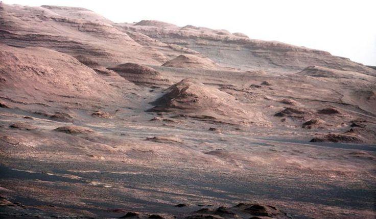 Mount Sharp, Mars (thank you Curiosity Rover)